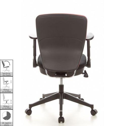 Bürostuhl SOFIA Schwarz aus Netzstoff - 4
