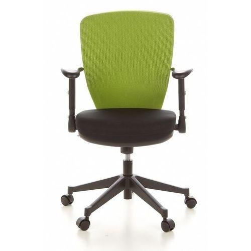 Bürostuhl SOFIA Schwarz-Apfelgrün aus Netzstoff - 1