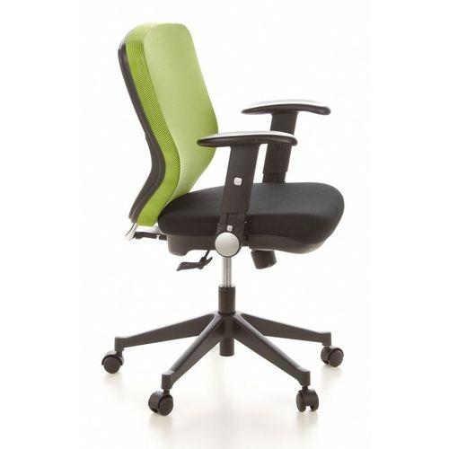 Bürostuhl SOFIA Schwarz-Apfelgrün aus Netzstoff - 3