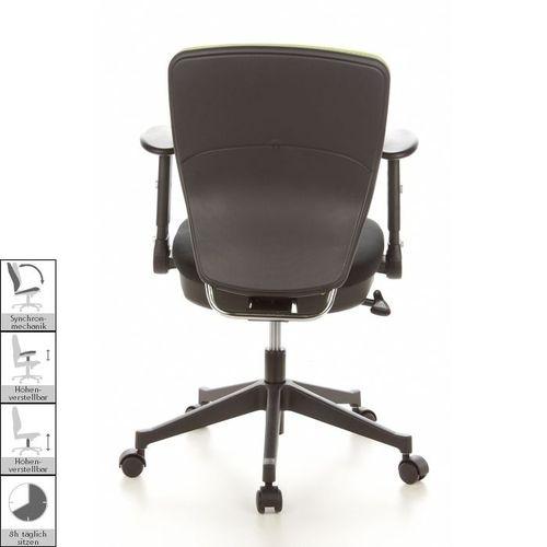 Bürostuhl SOFIA Schwarz-Apfelgrün aus Netzstoff - 4