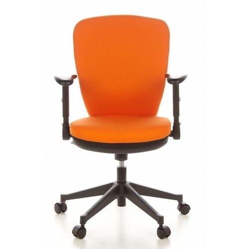 Bürostuhl STOCKHOLM Schwarz-Orange aus Stoff - 1