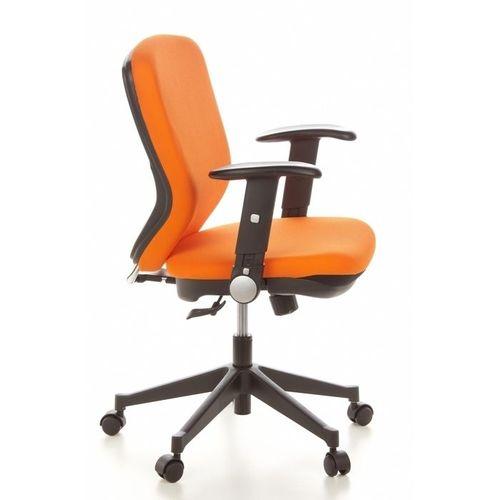 Bürostuhl STOCKHOLM Schwarz-Orange aus Stoff - 3
