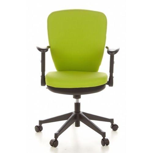 Bürostuhl STOCKHOLM Schwarz-Apfelgrün aus Stoff - 1