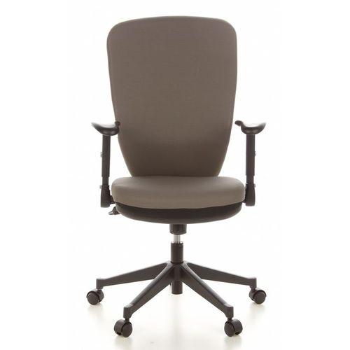 Bürostuhl HELSINKI Schwarz-Grau aus Stoff - 1