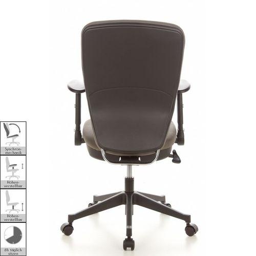 Bürostuhl HELSINKI Schwarz-Grau aus Stoff - 4