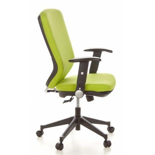 Bürostuhl HELSINKI Schwarz-Apfelgrün aus Stoff - 3