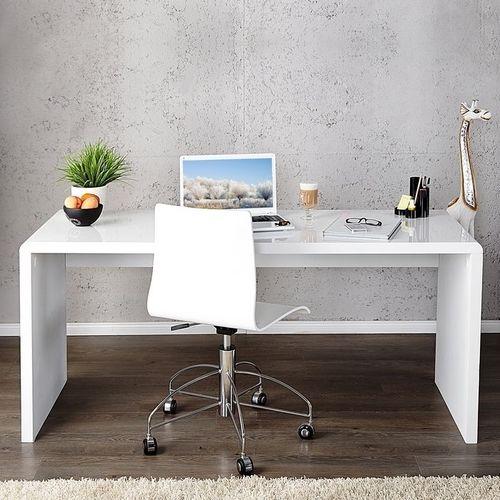 Schreibtisch SOHO Weiß Hochglanz 140cm - 1