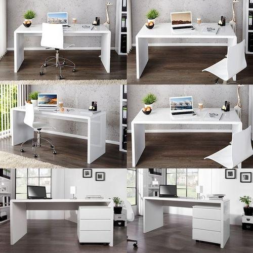 Schreibtisch SOHO Weiß Hochglanz 140cm - 4