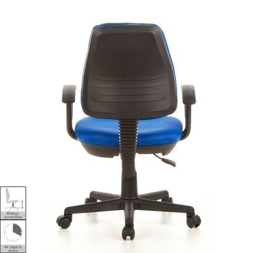 Bürostuhl RIGA Schwarz-Blau aus Netzstoff - 4