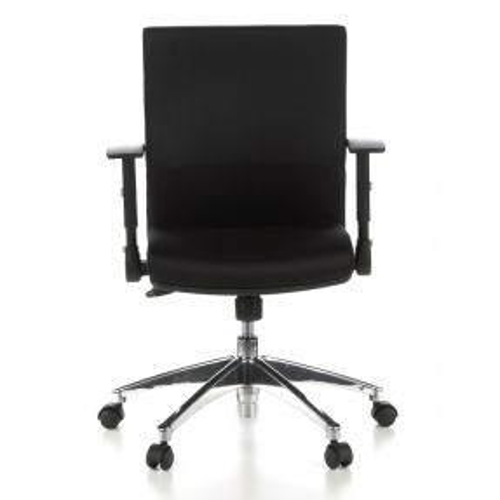 Bürostuhl PRAG Schwarz aus Stoff - 1