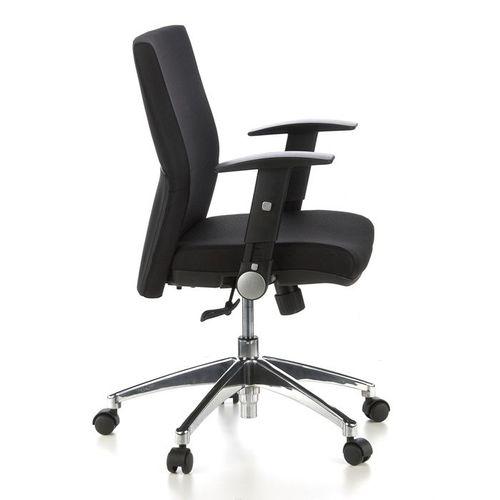 Bürostuhl PRAG Schwarz aus Stoff - 3
