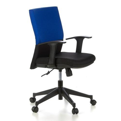 Bürostuhl ISTANBUL Schwarz-Blau aus Stoff - 2