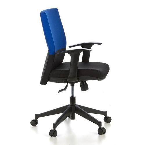 Bürostuhl ISTANBUL Schwarz-Blau aus Stoff - 3