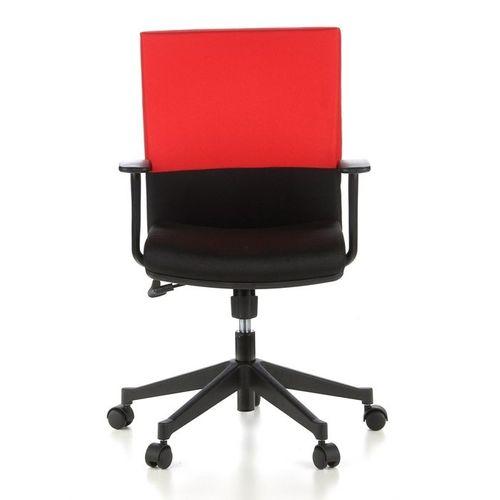 Bürostuhl ISTANBUL Schwarz-Rot aus Stoff - 1