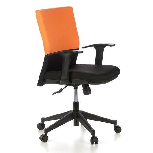 Bürostuhl ISTANBUL Schwarz-Orange aus Stoff - 2
