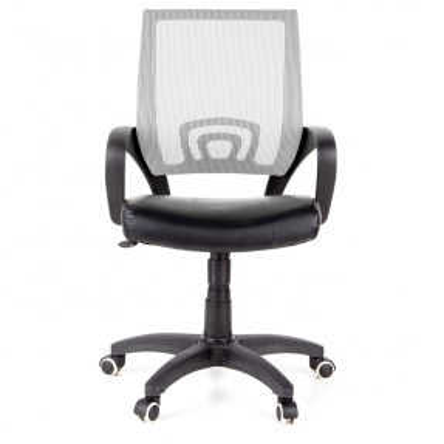 Bürostuhl BUDAPEST Schwarz-Grau aus Netzstoff & Kunstleder - 1