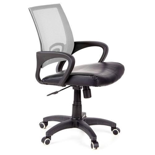Bürostuhl BUDAPEST Schwarz-Grau aus Netzstoff & Kunstleder - 2