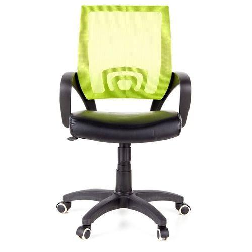 Bürostuhl BUDAPEST Schwarz-Grün aus Netzstoff & Kunstleder - 1