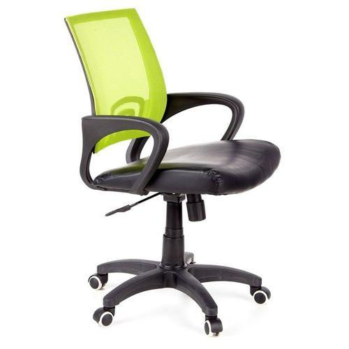 Bürostuhl BUDAPEST Schwarz-Grün aus Netzstoff & Kunstleder - 2