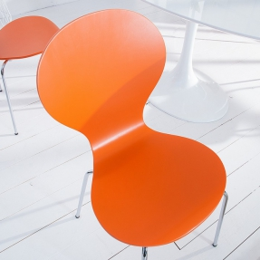 Designklassiker Stuhl JACOBSEN Orange stapelbar - 1