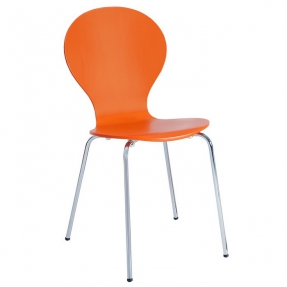 Designklassiker Stuhl JACOBSEN Orange stapelbar - 2
