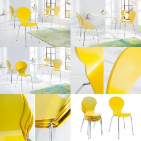 Designklassiker Stuhl JACOBSEN Gelb stapelbar - 3