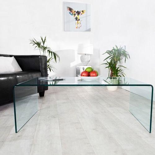 Glas-Couchtisch MAYFAIR transparent aus einem Guss 110cm - 2