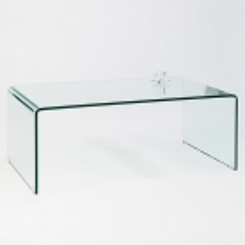 Glas-Couchtisch MAYFAIR transparent aus einem Guss 110cm - 3