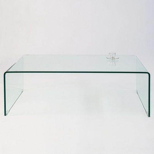 Glas-Couchtisch MAYFAIR transparent aus einem Guss 110cm - 4