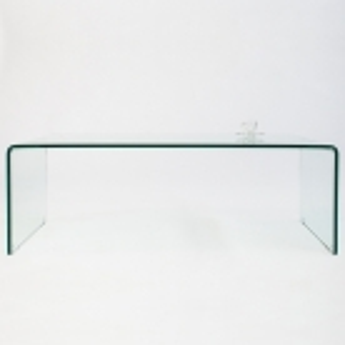 Glas-Couchtisch MAYFAIR transparent aus einem Guss 110cm - 5