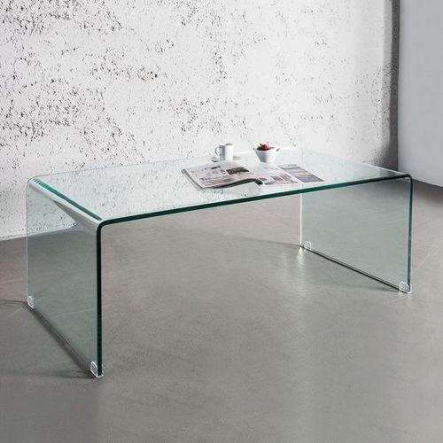 Glas-Couchtisch MAYFAIR transparent aus einem Guss 110cm - 8