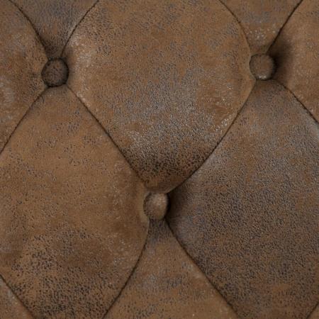 3er Sofa WINCHESTER Braun im klassisch englischen Chesterfield-Stil - 3