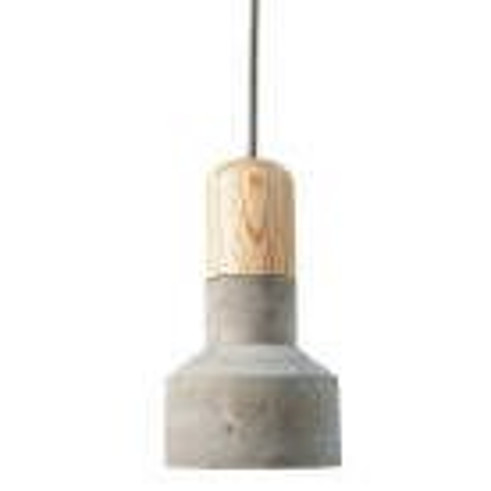 Hängelampe URBANO Buche & Grau aus Feinbeton 20cm Höhe - 2