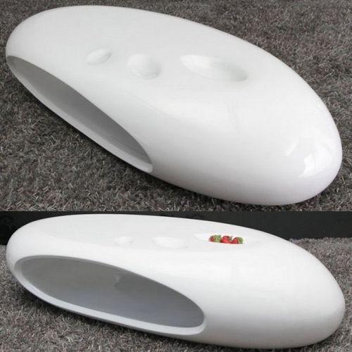 Couchtisch TORPEDO Weiß Hochglanz 135cm - 3