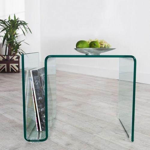 Glas-Beistelltisch MAYFAIR transparent aus einem Guss 50cm - 1