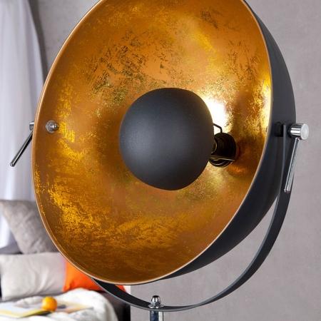 Stehlampe SPOT Schwarz-Gold 160cm Höhe verstellbar - 3