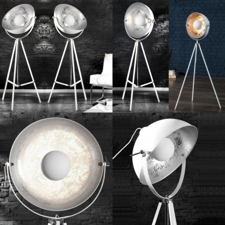Stehlampe SPOT Weiß-Silber 160cm Höhe verstellbar - 2