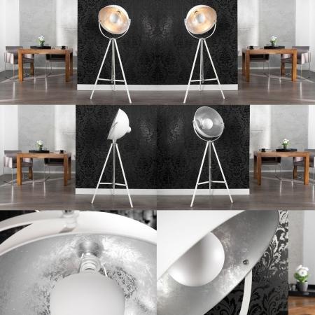 Stehlampe SPOT Weiß-Silber 160cm Höhe verstellbar - 3