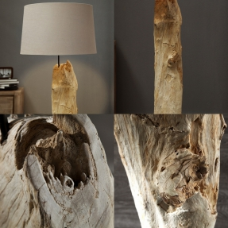 XL Stehlampe SUMATRA Beige aus Treibholz handgefertigt 175cm Höhe - 3