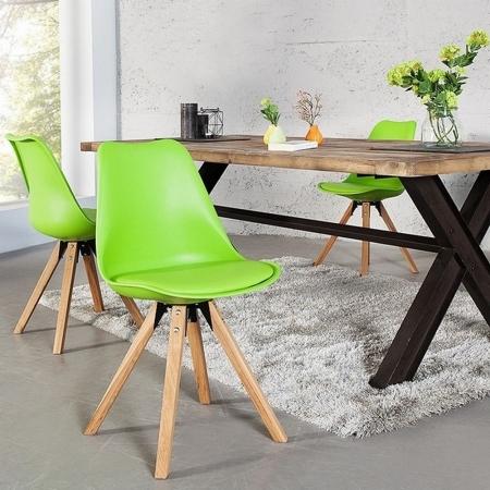 Retro Stuhl GÖTEBORG Limegrün im skandinavischen Stil - 1
