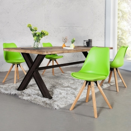 Retro Stuhl GÖTEBORG Limegrün im skandinavischen Stil - 2