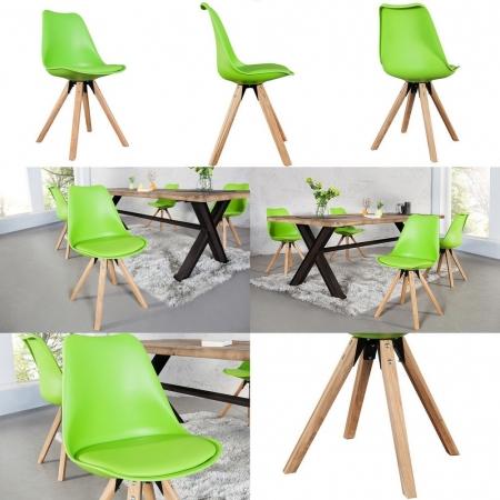 Retro Stuhl GÖTEBORG Limegrün im skandinavischen Stil - 3