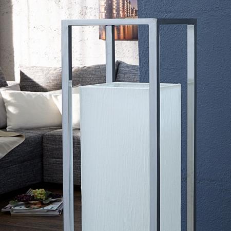 Stehlampe TOKYO Weiß mit Plissee-Schirm aus handgeschöpftem Papier 120cm Höhe - 3