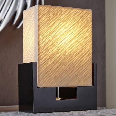 Tischlampe KOBE Beige aus handgeschöpftem Papier 25cm Höhe - 1
