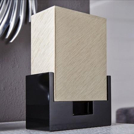 Tischlampe KOBE Beige aus handgeschöpftem Papier 25cm Höhe - 2