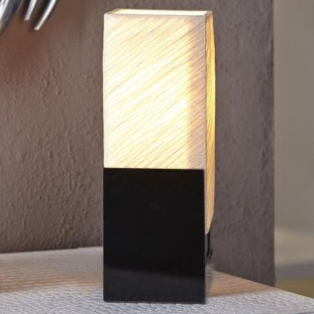 Tischlampe KOBE Beige aus handgeschöpftem Papier 25cm Höhe - 3