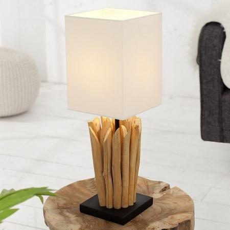 Tischlampe PENANG Weiß aus Treibholz handgefertigt 45cm Höhe - 1