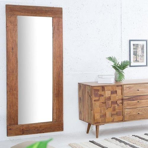XXL Wandspiegel JAVA Braun aus recyceltem Teakholz massiv 180cm x 80cm - 1