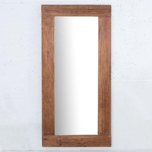 XXL Wandspiegel JAVA Braun aus recyceltem Teakholz massiv 180cm x 80cm - 2