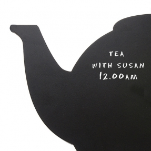 Wanduhr KITCHEN Teekanne Schwarz 45cm Länge - 2